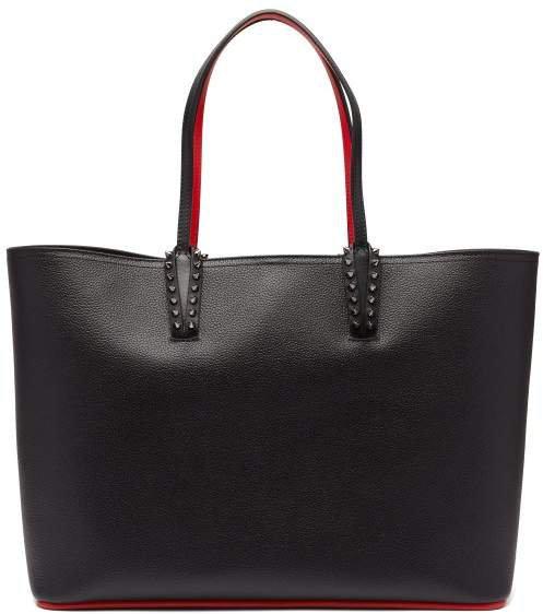 Cabata Spike Embellished Leather Tote - Womens - Black