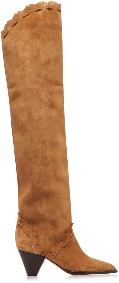 Isabel Marant Luiz Thigh High Suede Boots Size: 36