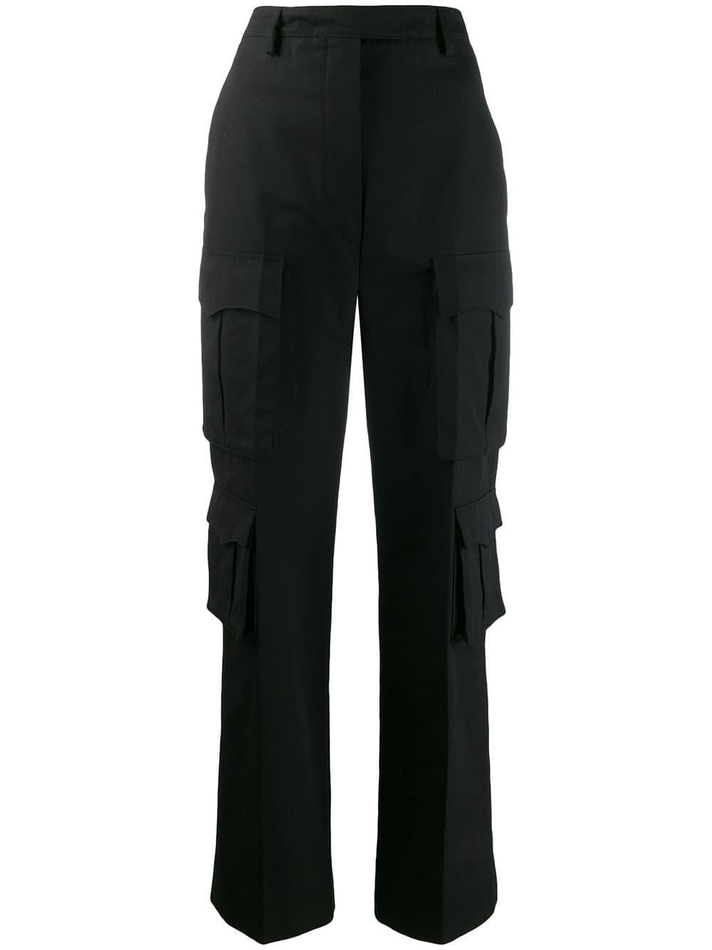 Black Prada Side Pocket Cargo Trousers | Farfetch.com