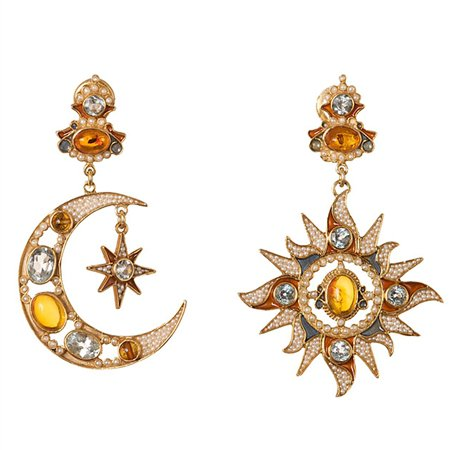 Diego Percossi Papi Sun and Moon Earrings