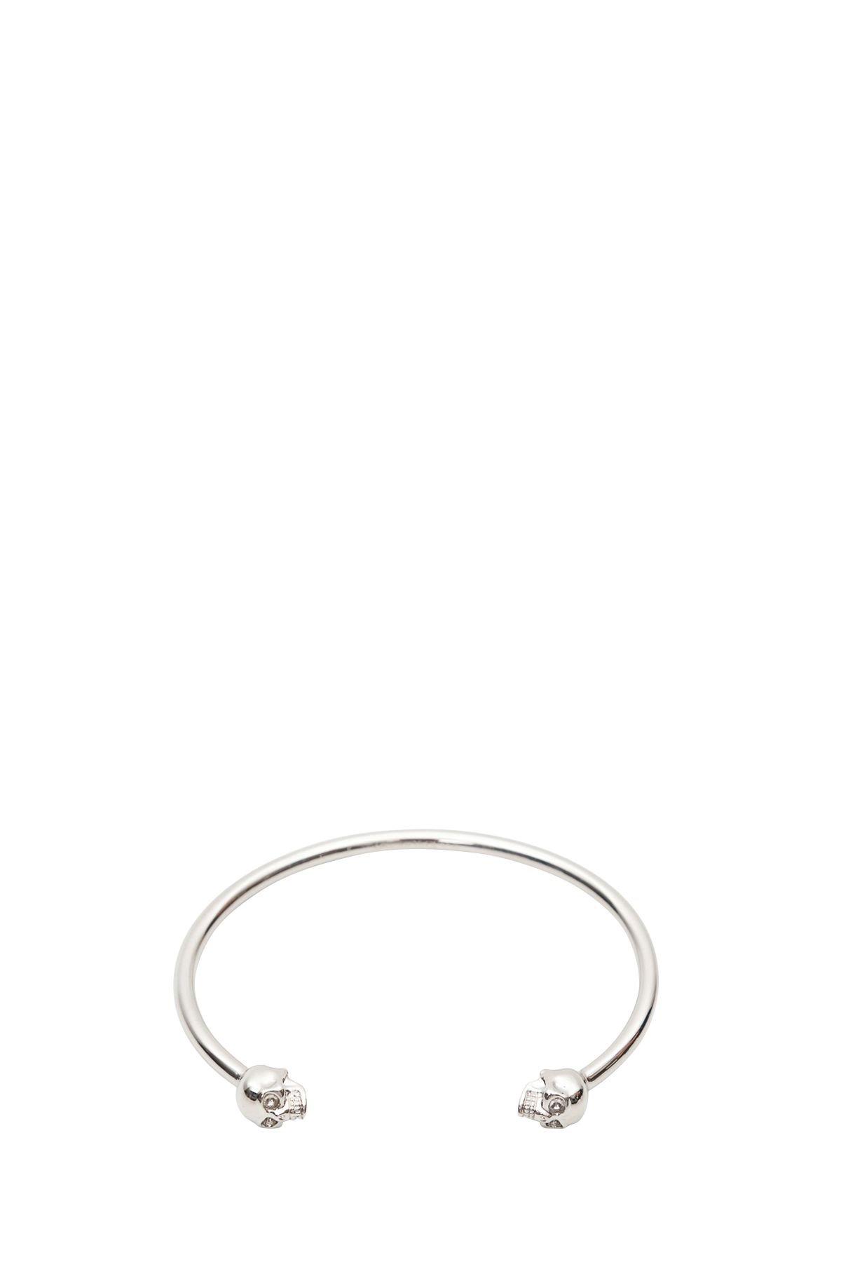 Alexander McQueen Skull Silver-tone Brass Bracelet
