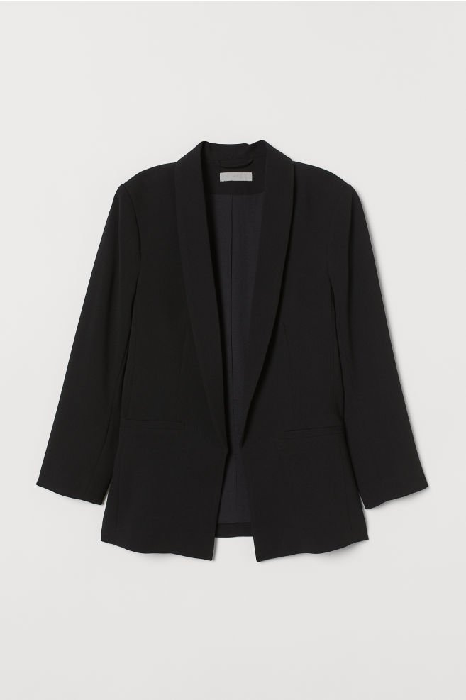 Black Straight-cut Jacket