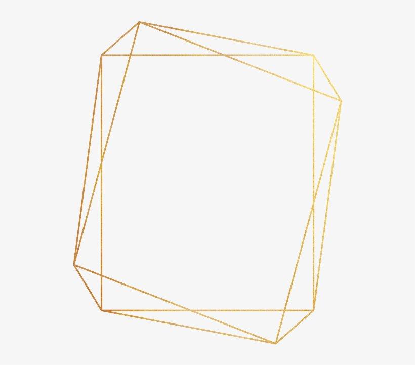 Gold Geometric Frame PNG