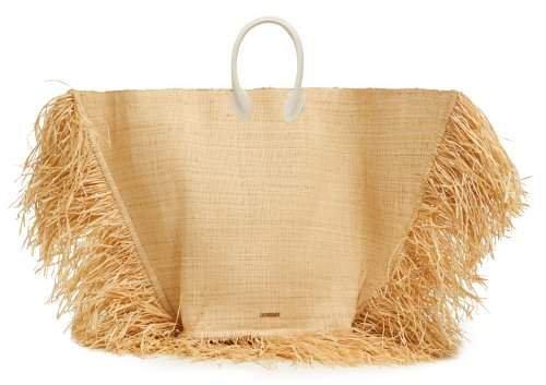 Le Grand Baci Woven Straw Bag - Womens - Beige