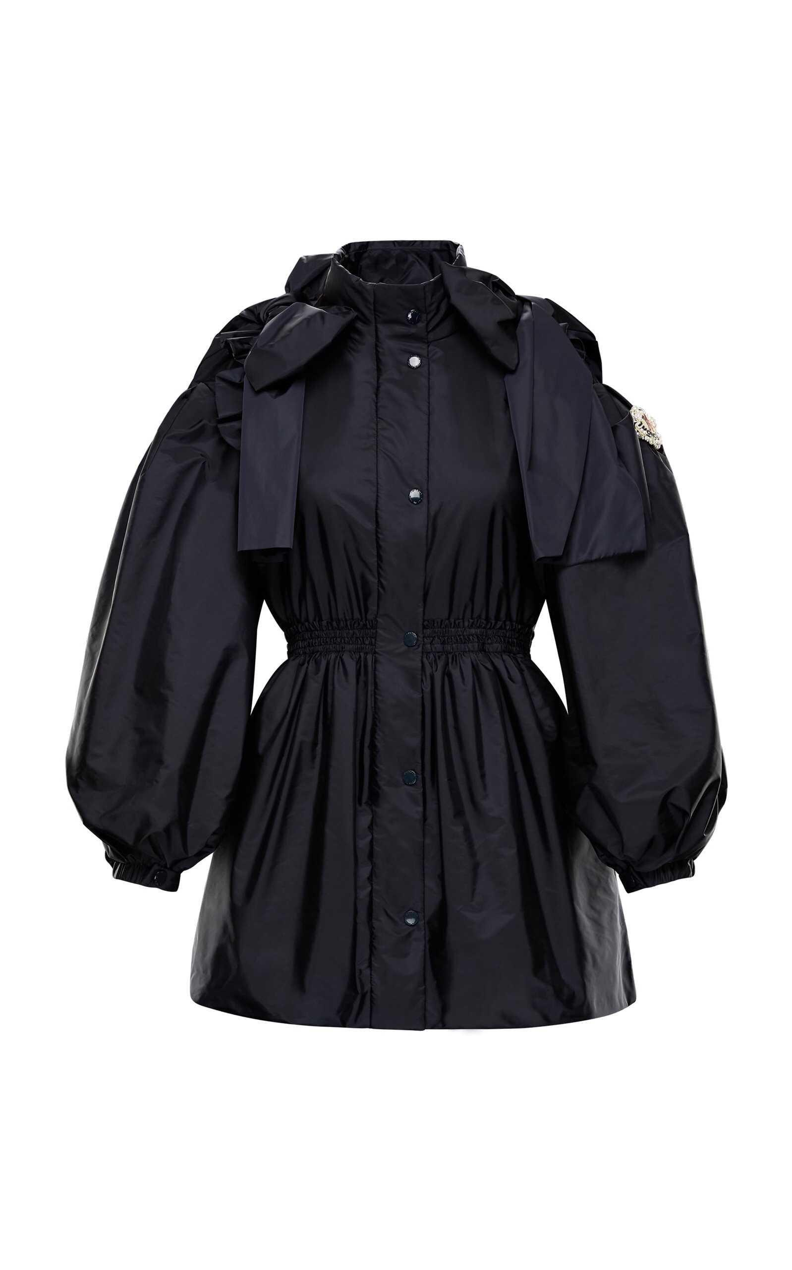 Moncler 4 Simone Rocha Bow-Detailed Shell Peplum Jacket