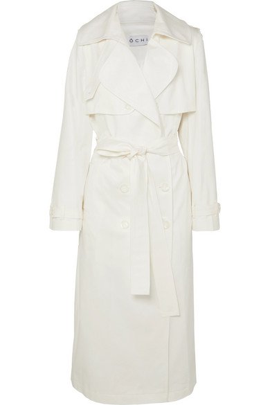 OCHI | Belted cotton-blend gabardine trench coat | NET-A-PORTER.COM