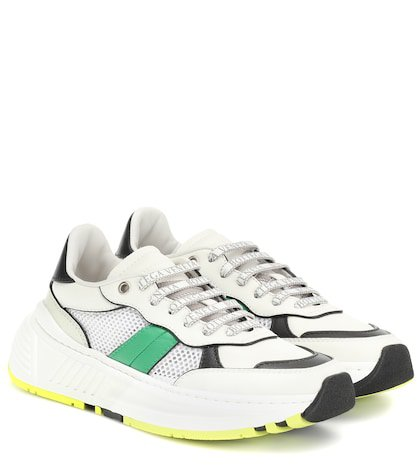 Speedster leather and mesh sneakers