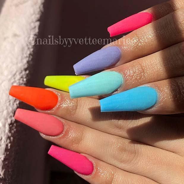 rainbow nails - Google Search