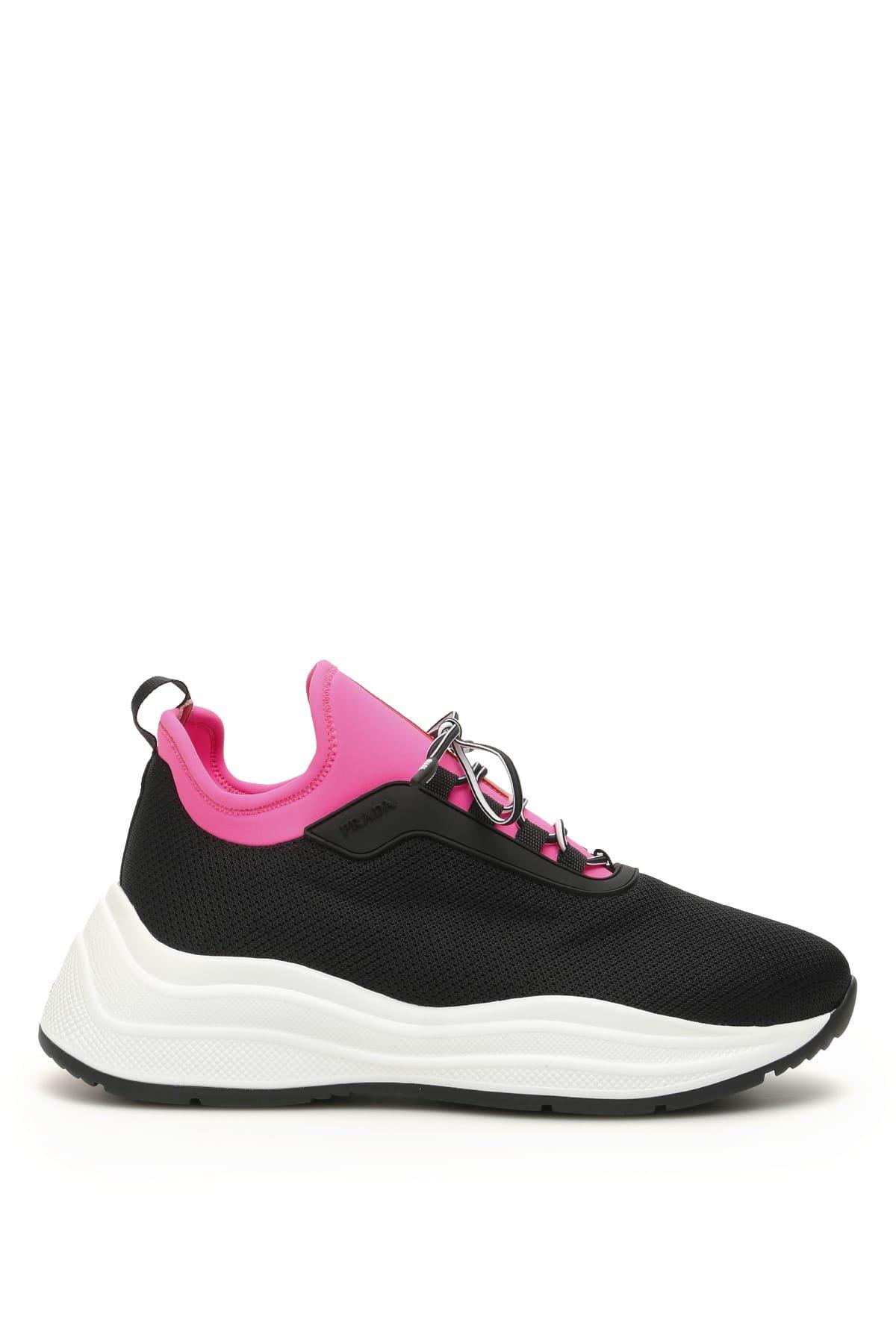 Prada Mesh Slip On Sneakers
