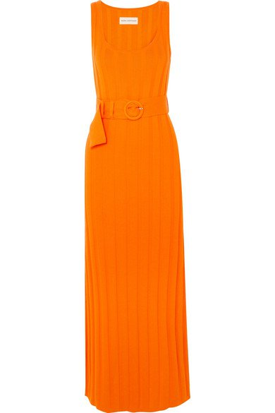 Mara Hoffman | Harlow belted ribbed organic cotton maxi dress | NET-A-PORTER.COM