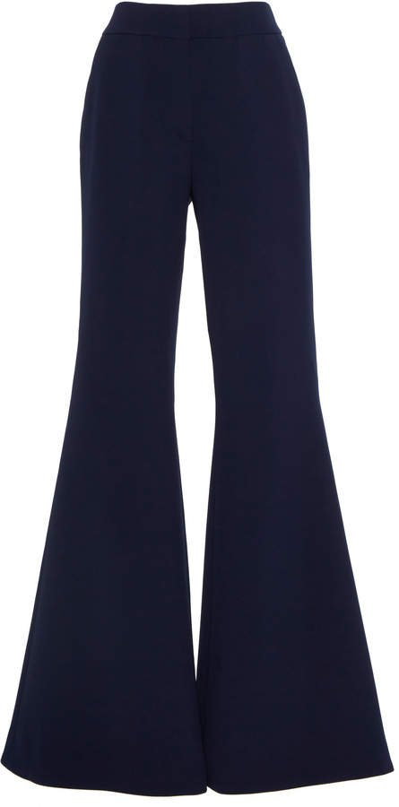 Ivy Crepe Flare-Leg Pants