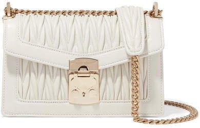 Confidential Matelassé Leather Shoulder Bag - White