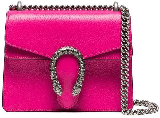pink Dionysus small leather shoulder bag