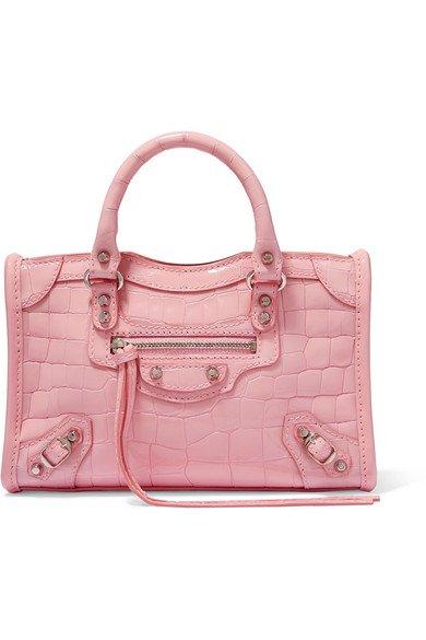 Balenciaga | Classic City AJ nano croc-effect patent-leather tote | NET-A-PORTER.COM