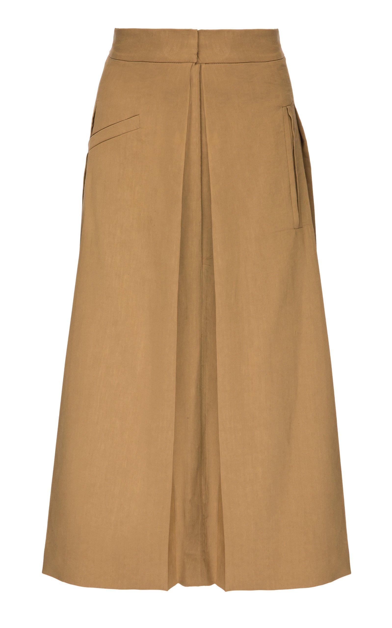 Babukhadia Pleated Midi Skirt