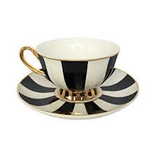 white and black checkered tea cup - Google Search