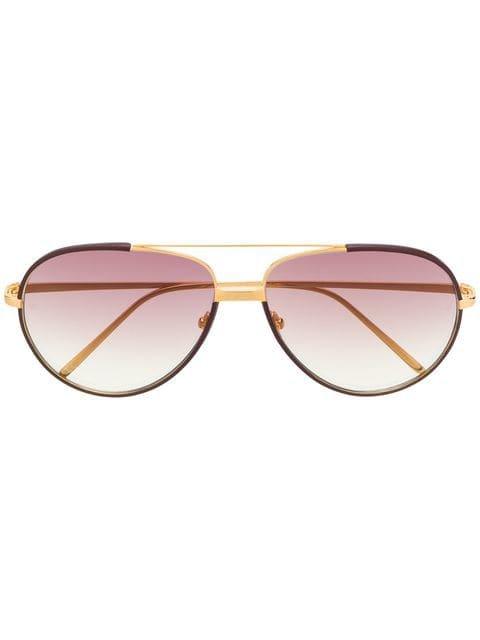 Linda Farrow aviator-frames sunglasses