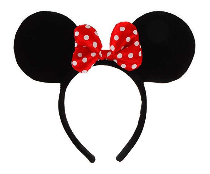 Amazon.com: Elope Disney Minnie Mouse Costume Ears Headband with Bow: Clothing