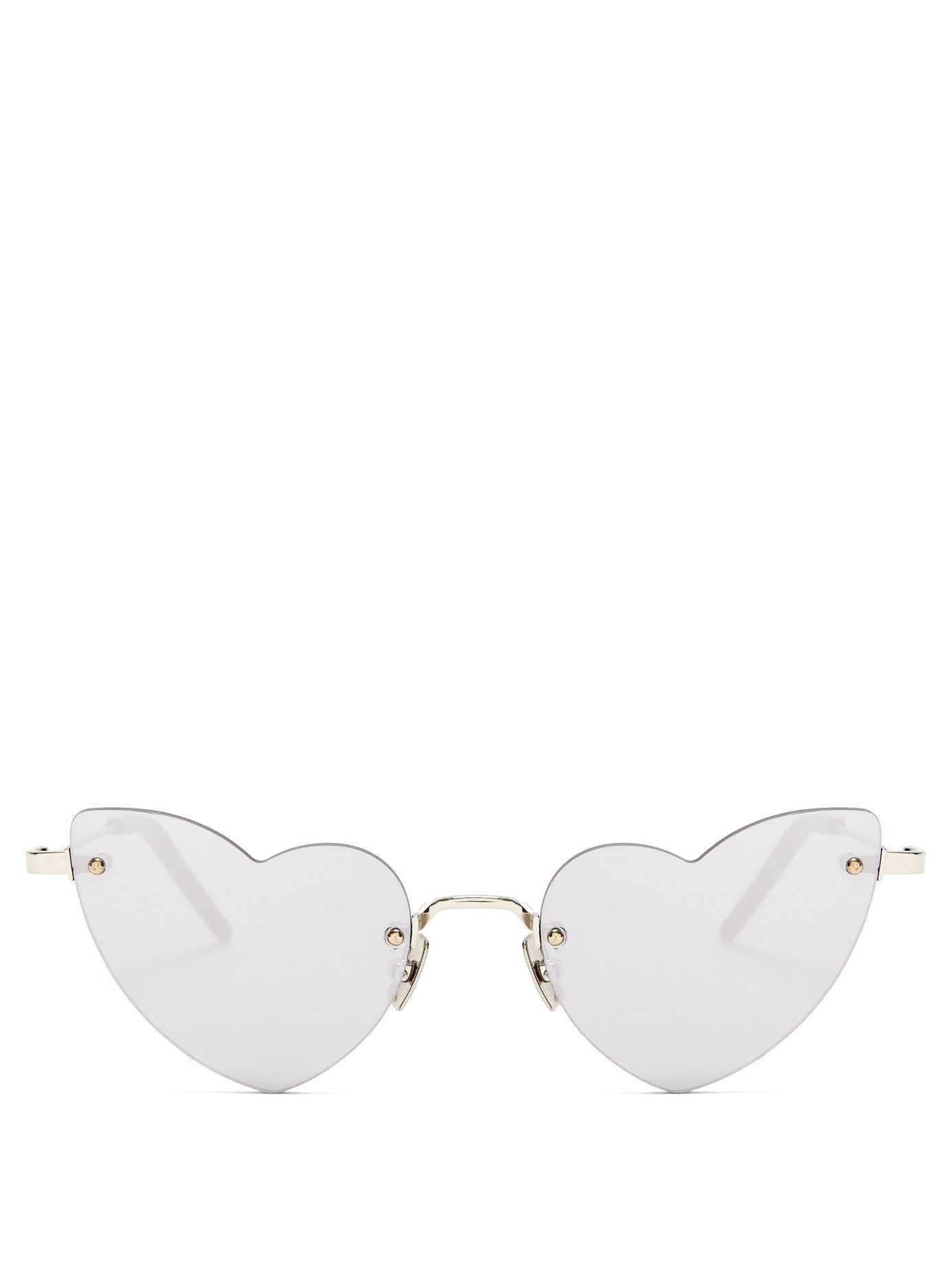Loulou heart-shaped metal sunglasses | Saint Laurent | MATCHESFASHION.COM US