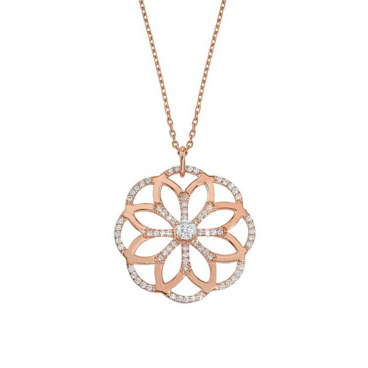 Sophia Pendant in 14K Rose Gold and Diamonds by GiGi Ferranti