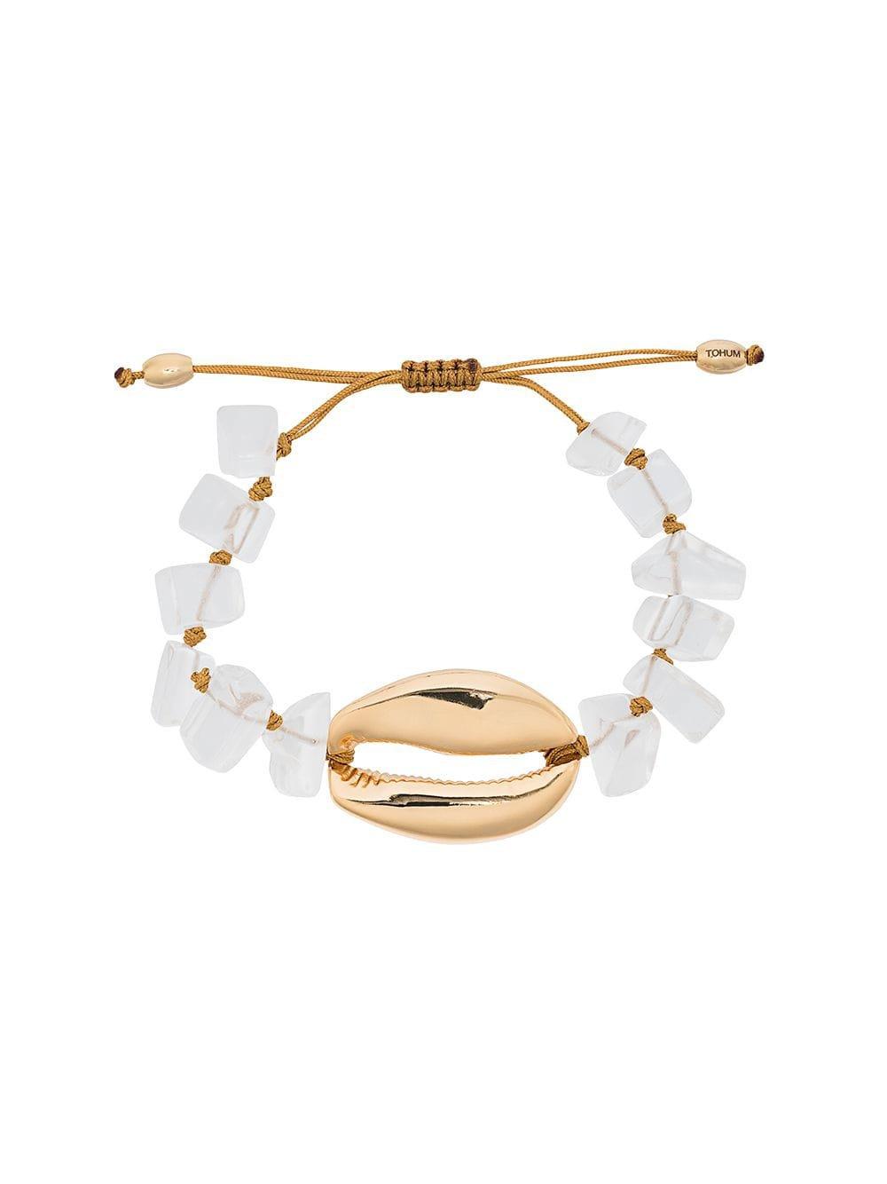 Tohum Metallic Puka Shell gold-plated Bracelet - Farfetch