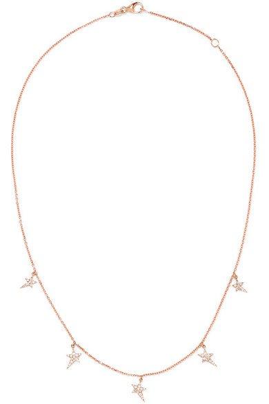 Diane Kordas | Star 18-karat rose gold diamond necklace | NET-A-PORTER.COM