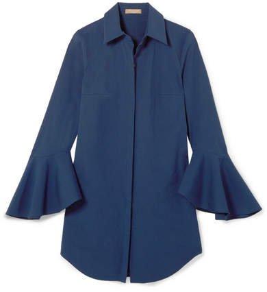 Cotton-blend Poplin Shirt - Blue