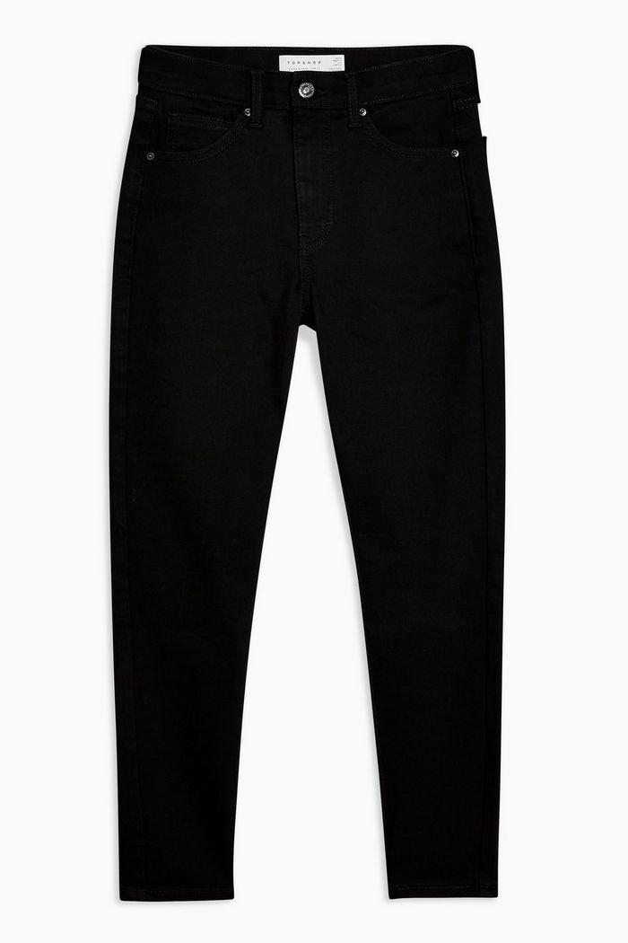 PETITE Pure Black Jamie Jeans   Topshop