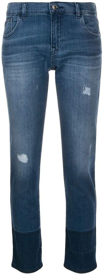 two tone skinny jeans