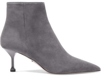 65 Suede Ankle Boots - Gray