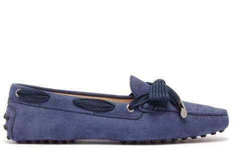 Gommini Nubuck Loafers - Womens - Navy