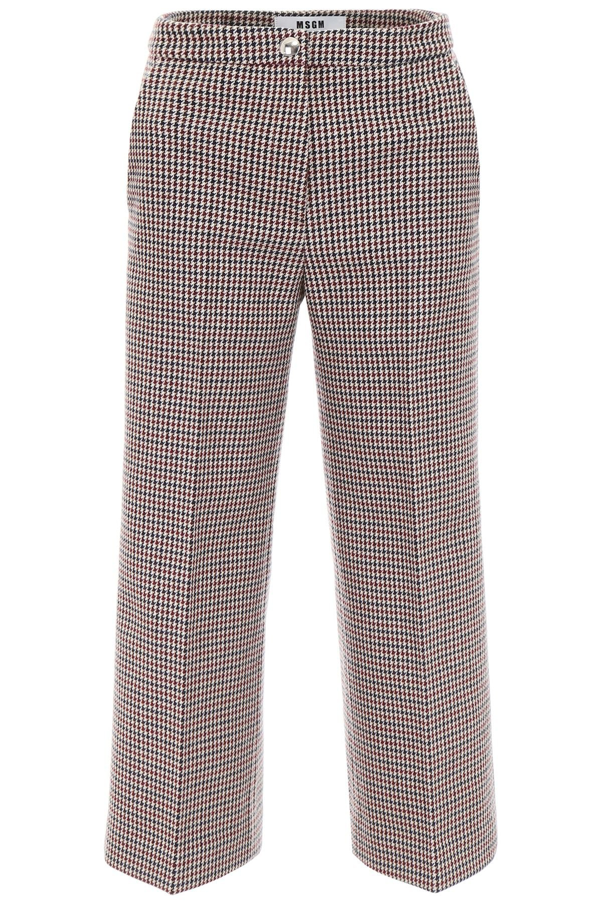 MSGM Cropped Houndstooth Trousers