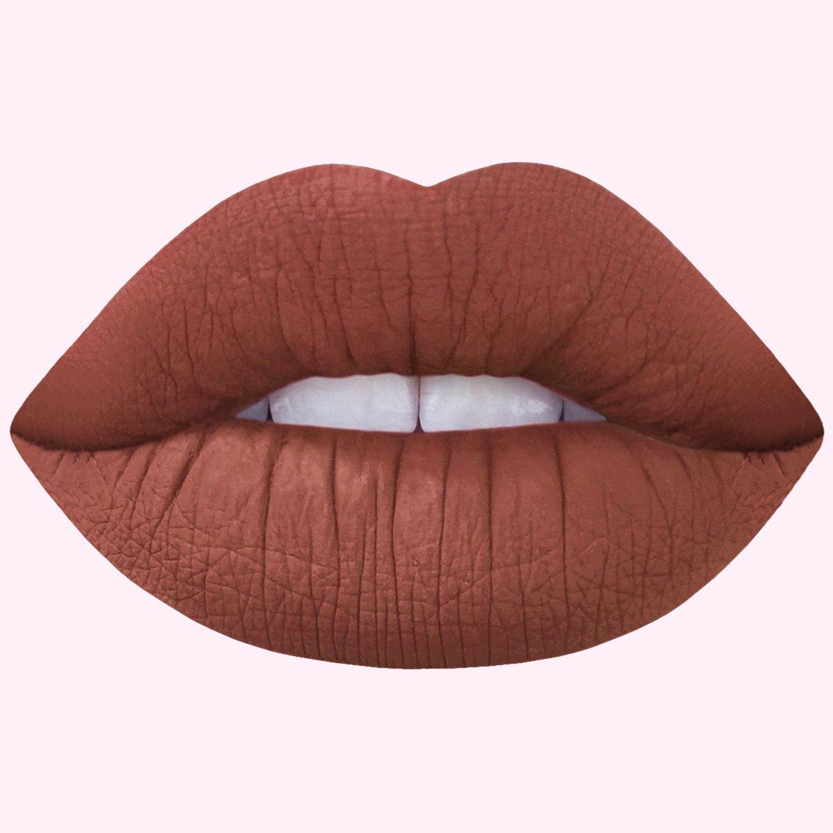Cindy: Terracotta Brown Matte Velvetines Vegan Lipstick - Lime Crime