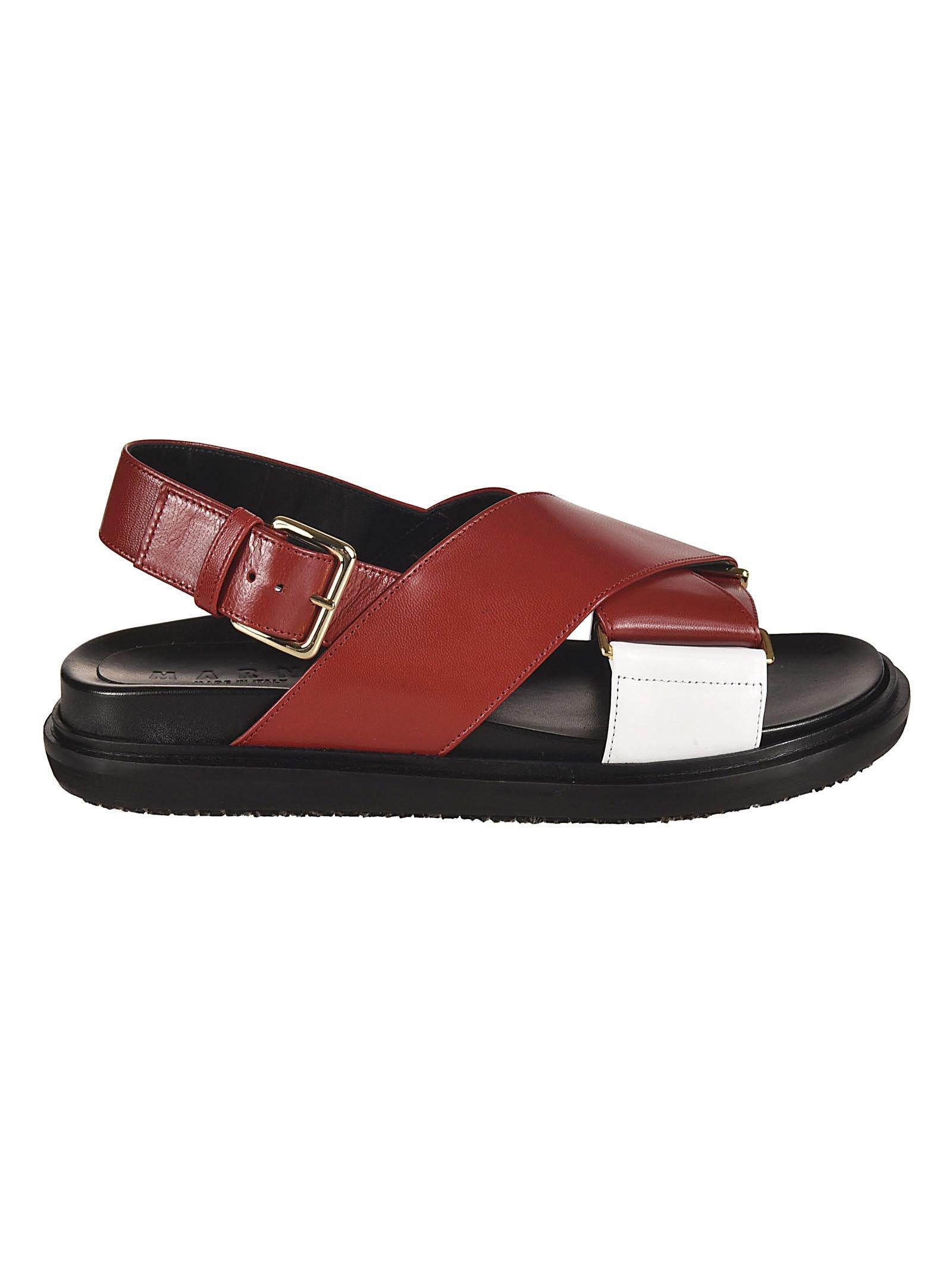 Marni Fussbett Cross-over Sandals