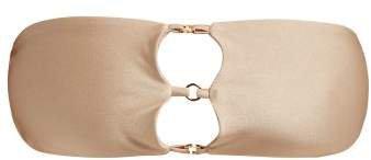 Ace 3 Ring Bandeau Bikini Top - Womens - Nude