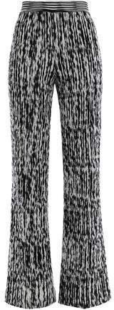Crochet-knit Wool-blend Bootcut Pants