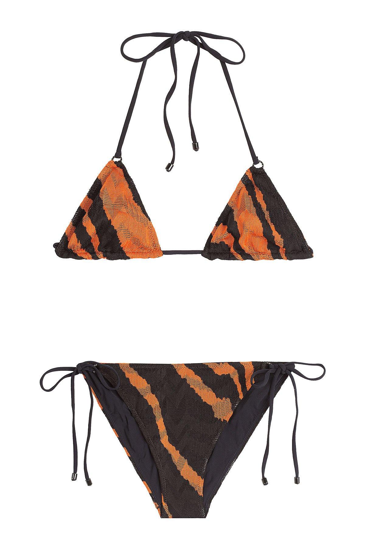 Animal Print Knit Triangle Bikini Gr. IT 42