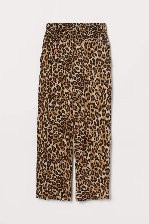 MAMA Wide-cut Jersey Pants - Black