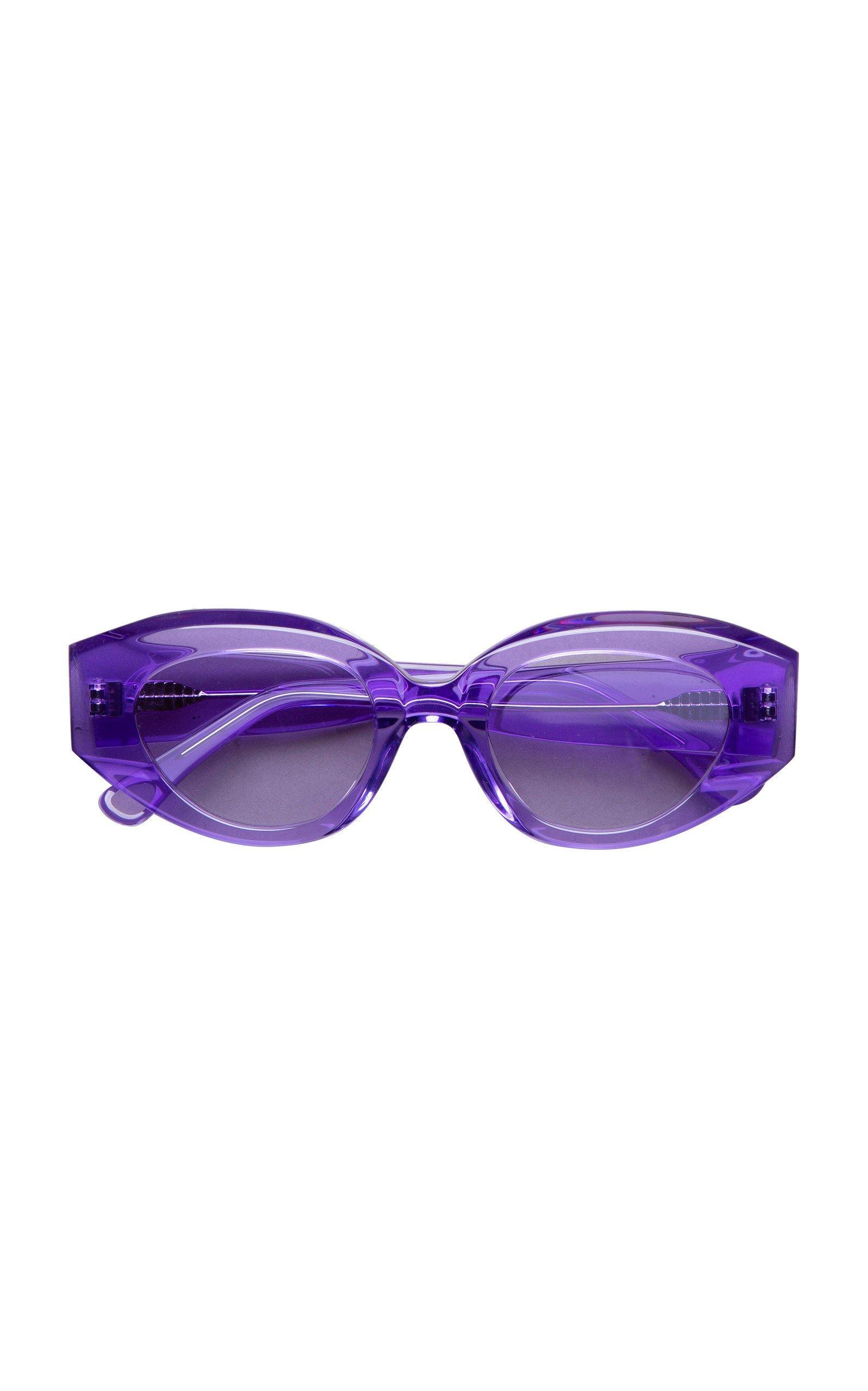 PHILÓ Petra Round-Frame Sunglasses
