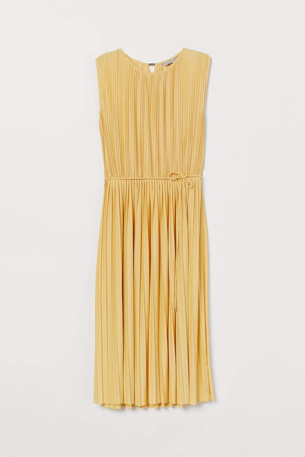 Pleated Dress - Yellow