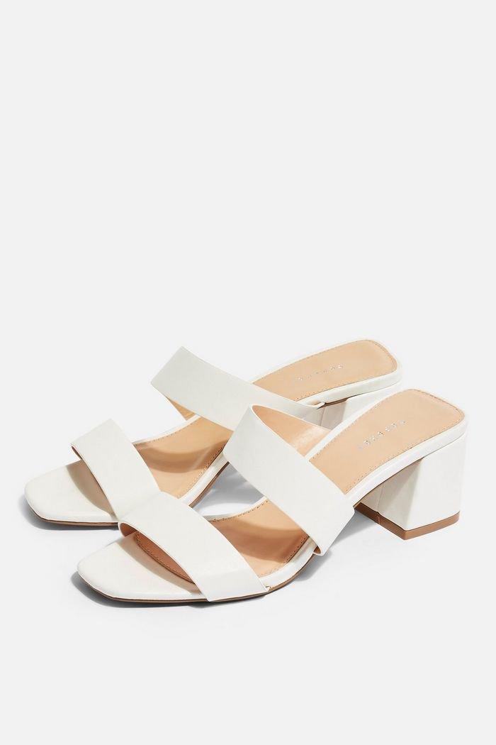 DARLA White Strap Mules | Topshop