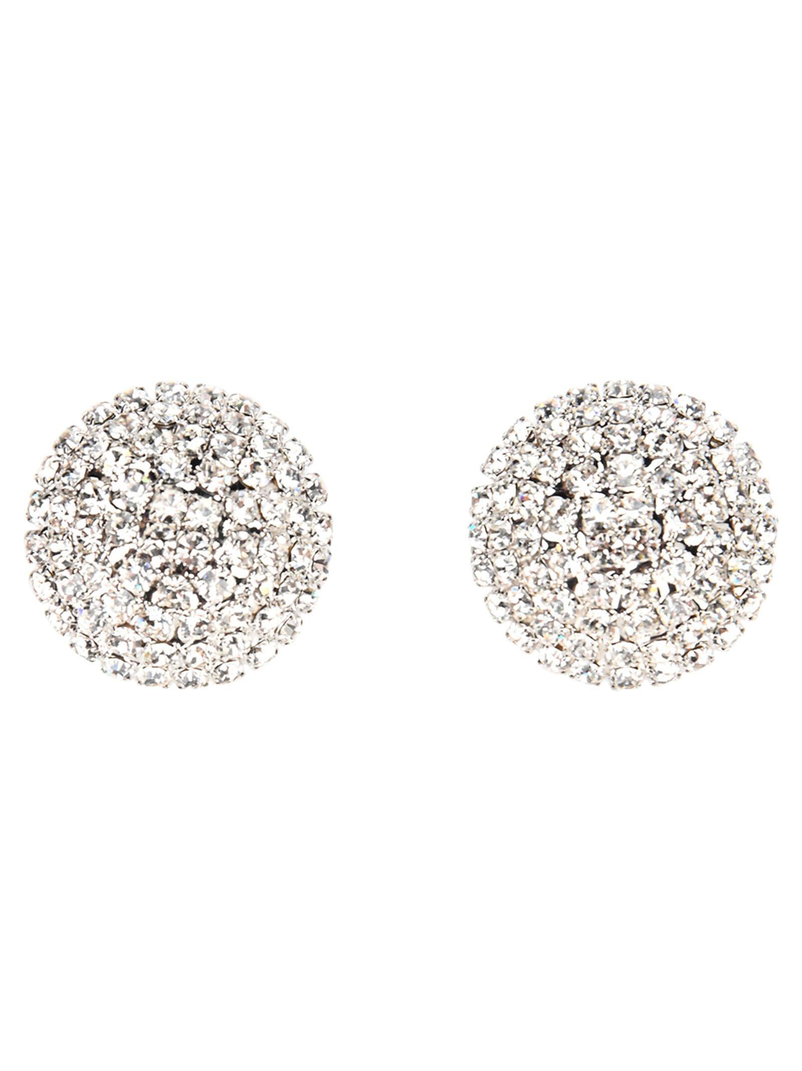 Alessandra Rich Half Sphere Crystal Earrings