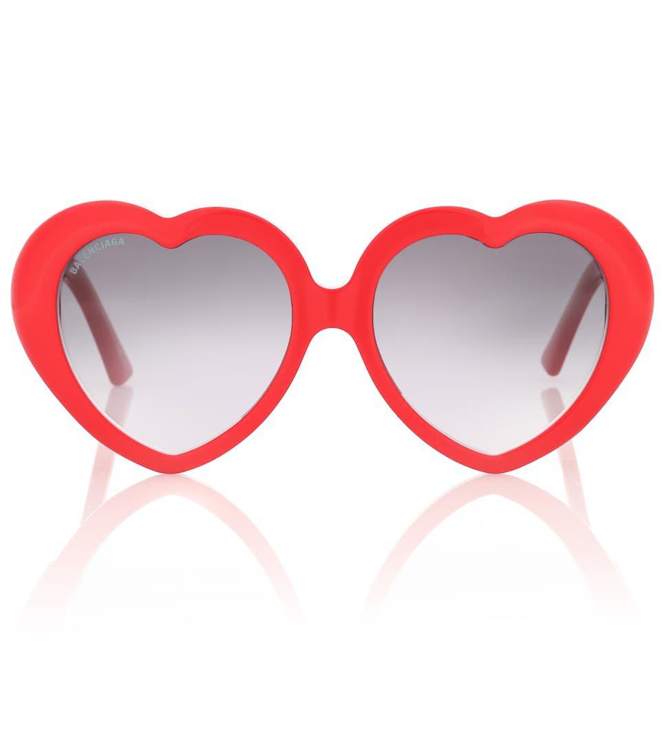 Susi Heart-Shaped Sunglasses | Balenciaga - Mytheresa