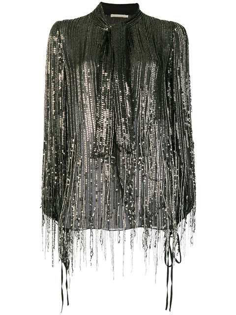 Amen Fringed Sequin Blouse - Farfetch