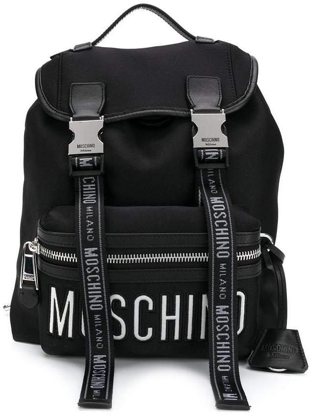 logo straps backpack