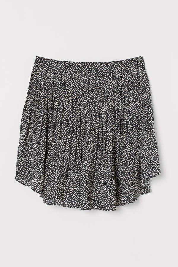 H&M+ Pleated Skirt - Black