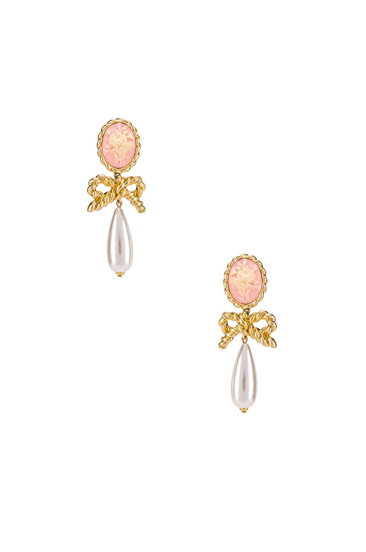 Cameo Pearl Drop Earrings