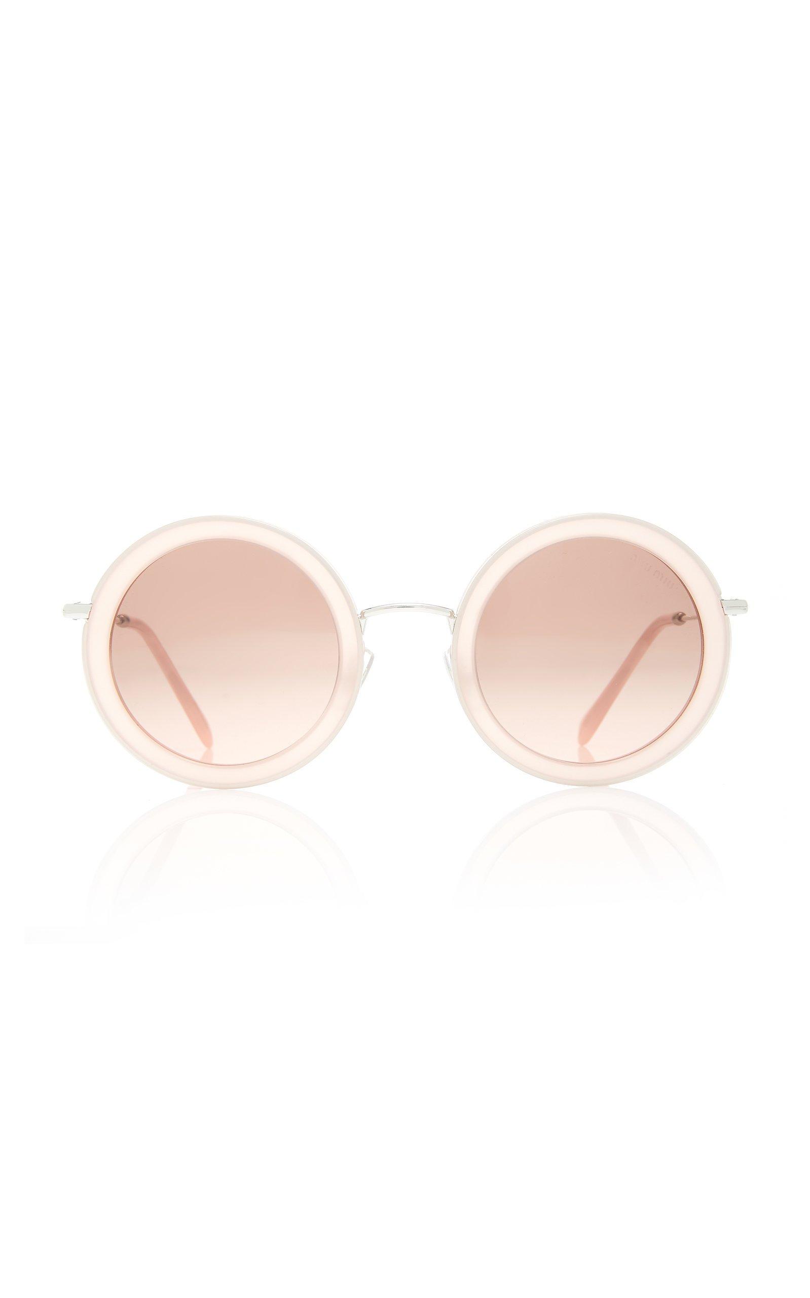 Miu Miu Sunglasses Round-Frame Acetate Sunglasses