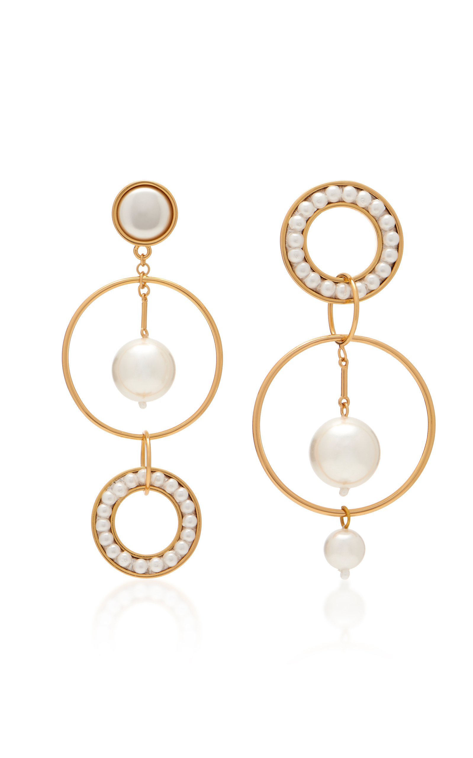 Mignonne Gavigan Mika Mismatched 18K Gold And Faux Pearl Earrings