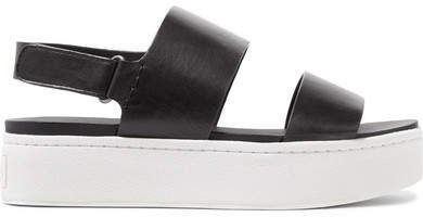 Westport Leather Platform Slingback Sandals - Black